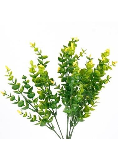 Çiçekmisin Kuş Dal Yapay Yeşillik Sarı